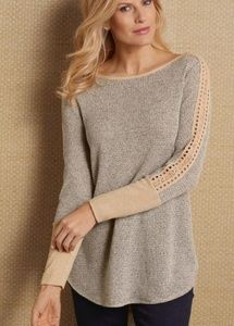 Soft Surroundings Bailey Waffle Knit Thermal Top